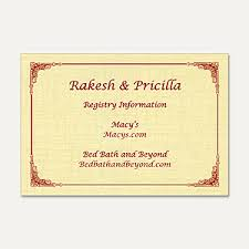 wedding registry card wording indian wedding invitation wordings indian wedding cards wordings