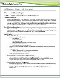 Sample Resume For Mechanical Engineer by Sample Cv Mechanical Engineer Hvac