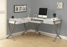 Modern White Computer Desk Furniture Modern White L Shaped Computer Desk Wayfair With
