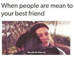 Best Friends Memes - when people are mean to your best friend we will kill them all