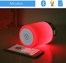 elecstars led touch bedside l dikaou touch bedside l with led bluetooth speaker table l