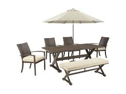 Patio Dining Sets With Umbrella - signature design by ashley moresdale outdoor dining set with bench