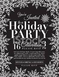 snowflake holiday party invitation template blue stock vector