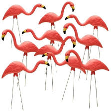 southern patio 26 in pink flamingo lawn ornament 10 pack yard