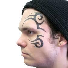 halloween face stickers mike tyson tribal design temporary tattoo by tattoofun