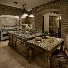old world style kitchens in las vegas with art flanders weave tile