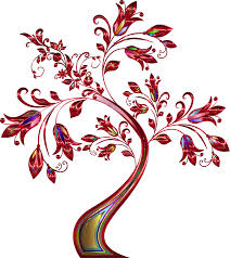 clipart floral tree supplemental 6 no background