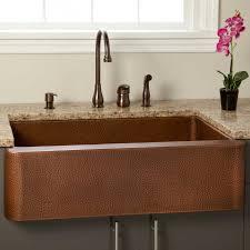 Fiona Hammered Copper Farmhouse Sink Kitchen - Copper farmhouse kitchen sink