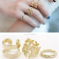 finger gold rings images 3pcs set new women fashion jewelry above knuckle middle finger jpg