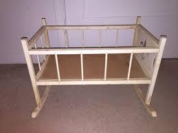 furniture vintage wooden baby rocking cradle bed with vintage