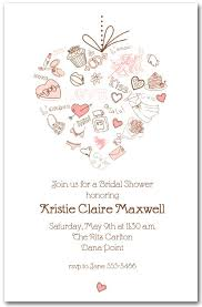 bridal shower invitation heart bridal shower invitations bridal shower