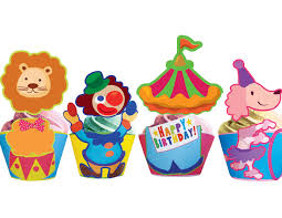 circus cake toppers circus cupcake toppers wrappers instant cupcakemakeover