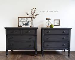 Gray Nightstands Nightstand Etsy