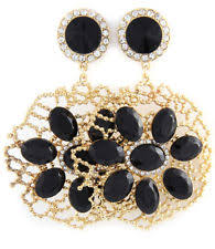 Blair Delmonico Crystal Beaded Chandelier Crystal Black Clip On Costume Earrings Ebay