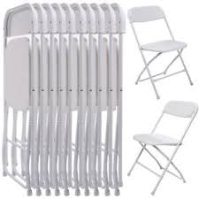 White Plastic Table Plastic Folding Chairs Ebay