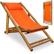 chaise longue transat chaise longue transat bambou jardin plage terrasse repose tête