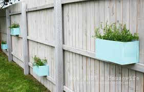 planter box on fence our fence isnt wood like this one but i u0027m