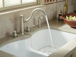 kohler smart divide undermount sink stainless langlade under mount sink w six oversized faucet holes k 6626 6u