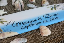 Wooden Wedding Gifts Surfboard Guestbook Idea Wood Guest Book Wedding Sign Beach