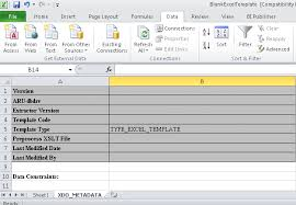 Data Mapping Template Excel 10 Steps To Designing An Excel Template For Embedded Bi Publisher
