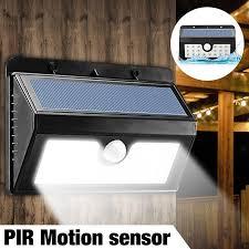 solar powered outdoor motion lights wireless solar powered 20 led solar light waterproof ip65 pir motion