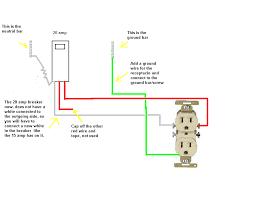 wiring diagram 15 amp circuit breaker 120 volt diy house tearing