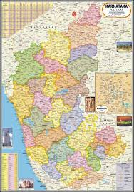 Large World Map Poster by Karnataka Map Political Paper Print Maps Posters In India