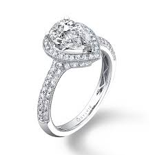 shaped engagement ring astride pear shaped engagement ring with halo sy096 sylvie