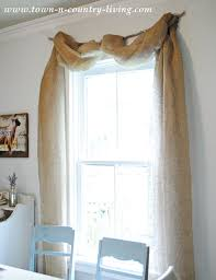 Swag Curtains For Dining Room No Sew Landscape Burlap Swag Curtains Burlap Swag Burlap And Swag