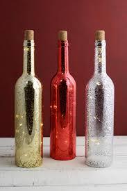 Mercury Glass Home Decor Led Lighted Mercury Glass Plastic Wine Bottles Battery Op 13in