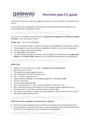 resume format for part time 28 images part time resume
