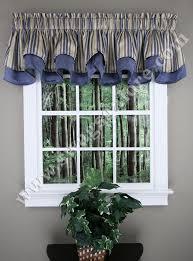 Buy Valance Curtains Windsor Layered Scalloped Curtain Valance Blue Stylemaster