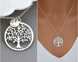 personalized family tree necklace personalized tree etsy