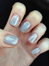 nailsbynumbers notd at home super glittery shellac