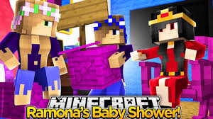 minecraft royal family throwing ramona a baby shower youtube