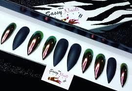 w chrome with black matte chrome nails glitter nailspress