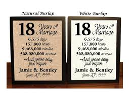 18th anniversary gifts 18th anniversary 18 year anniversary 18th anniversary gift