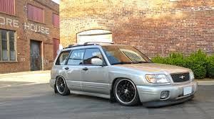 bagged subaru wagon forester legacy airlift japan