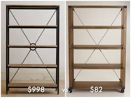 julia u0027s product research industrial style bookcase for under 100