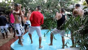 gangnam style in varadero cuba backyard party with the locals
