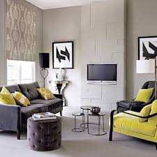 An Accented Neutral Color Scheme Is Created By Adding Yellow To - Adding color to neutral living room