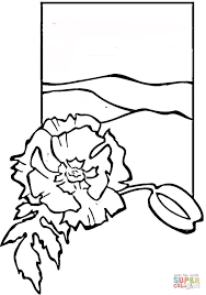 poppy coloring free printable coloring pages