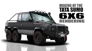 tata sumo modified tata sumo modified to a 6x6 monster truck rendering srk designs