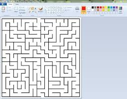 solving maze using photoshop gimp paint or any other software 5
