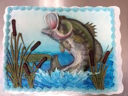 bass fish cake bass fishing birthday cake piped buttercream and airbrush