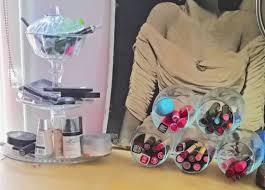 Makeup Desk Organizer Diy Desk Organizer Diy Makeup Storage Diy Jars Makeup Jars