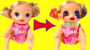 diy harley quinn costume for kids baby alive becomes harley quinn diy face paint halloween