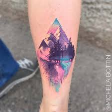 mountain watercolor on calf ideas