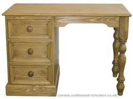 Single Pedestal Dressing Table Solid Wood Interiors U003e Solid Pine Double Pedestal Dressing Table