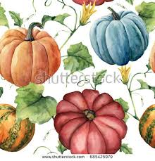 hand painted pumpkin halloween clipart watercolor pumpkins hand painted red blue stock illustration